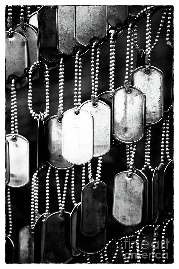 Dog Tags Photograph - They Gave Their All by John Rizzuto