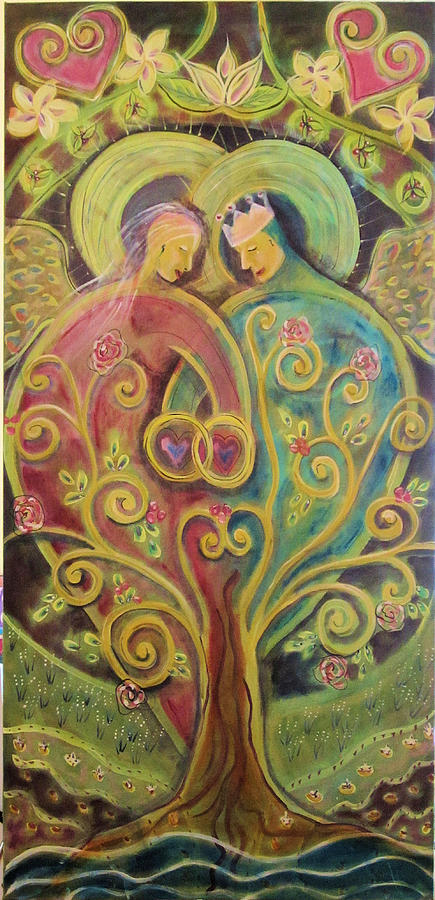 Love Painting - They Grow In Love by Deborah Carlson