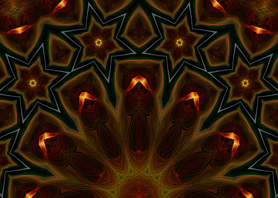Flame Fractal Digital Art - They Rise From The Deep by Owlspook