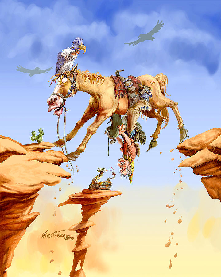 Horse Painting - Things Are Looking Up by Nate Owens