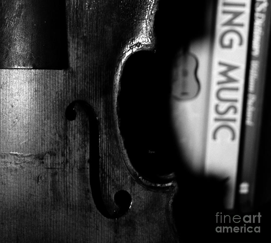 Violin Photograph - Things That Compose  by Steven Digman