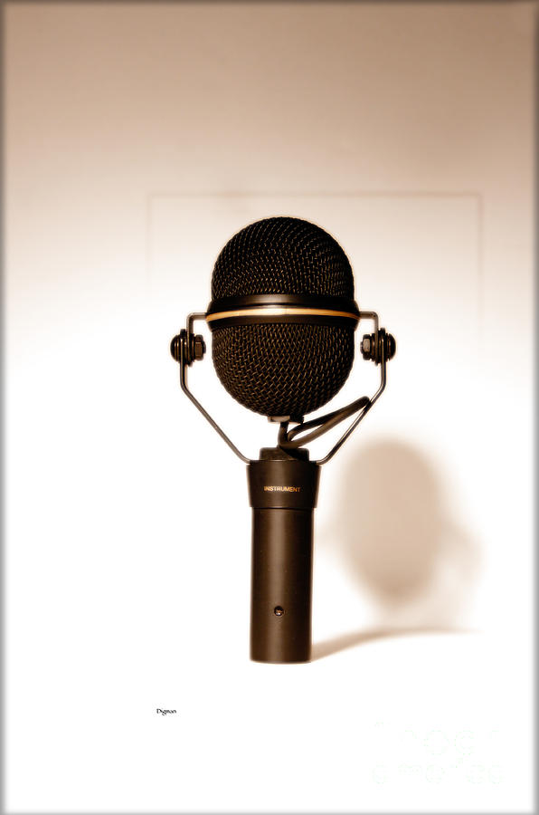 Microphone Photograph - Things That Instrument  by Steven Digman