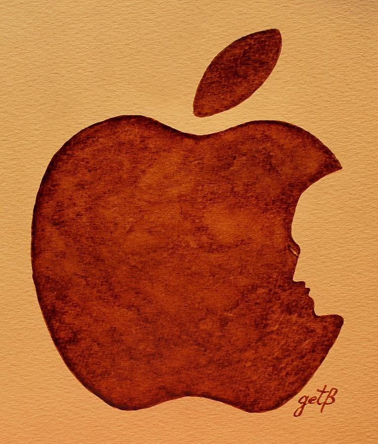 Steve Jobs Apple Painting - Think Different Steve Jobs 3 by Georgeta  Blanaru