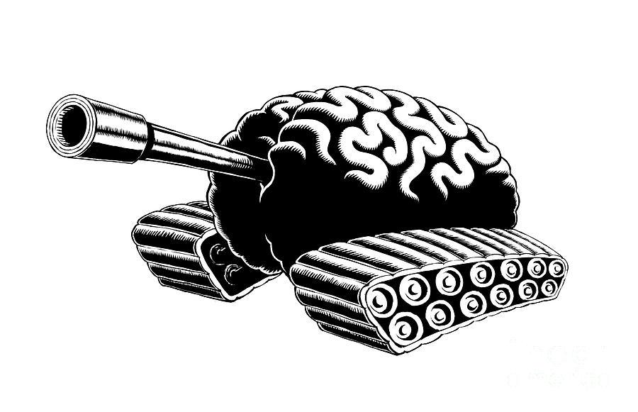Think Drawing - Think Tank by M o R x N