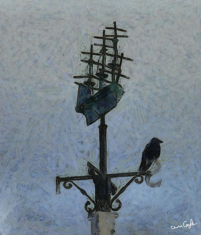 Bird Digital Art - Thinkin Of Flyin South by Chris Coyle