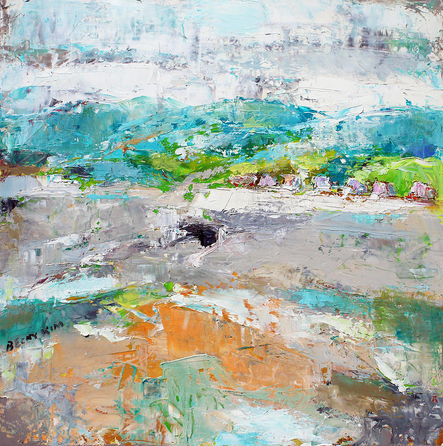 Landscape Painting - Thinking About Winter In Summer Time 2 by Becky Kim