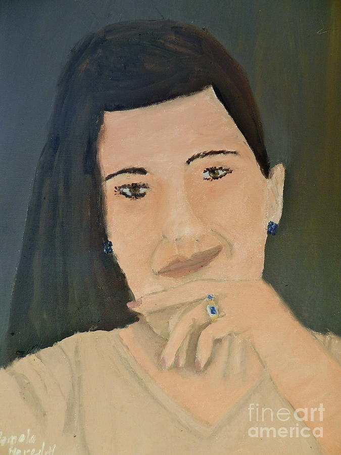 Portrait Painting - Thinking Of What To Do Next by Pamela  Meredith