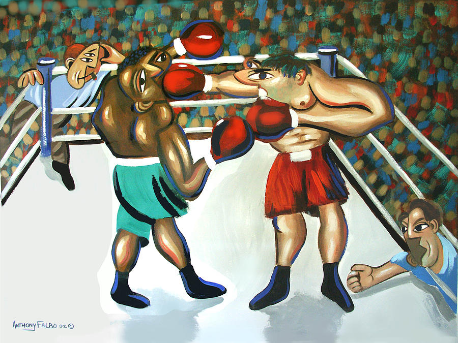 Boxing Prints Painting - Third Round by Anthony Falbo