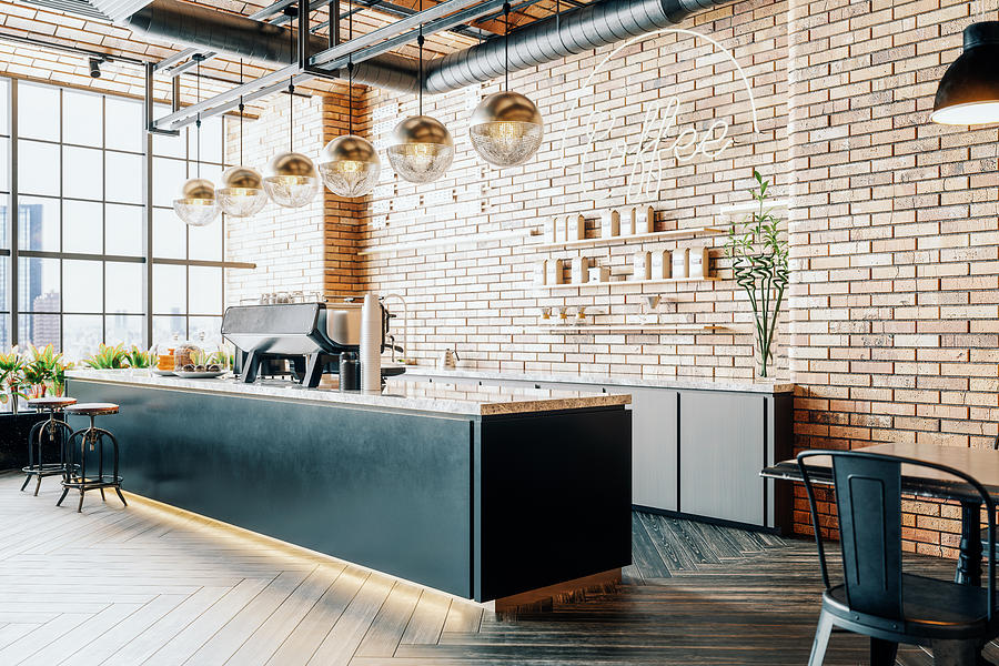 Third Wave Coffee Shop Interior Photograph by Imaginima