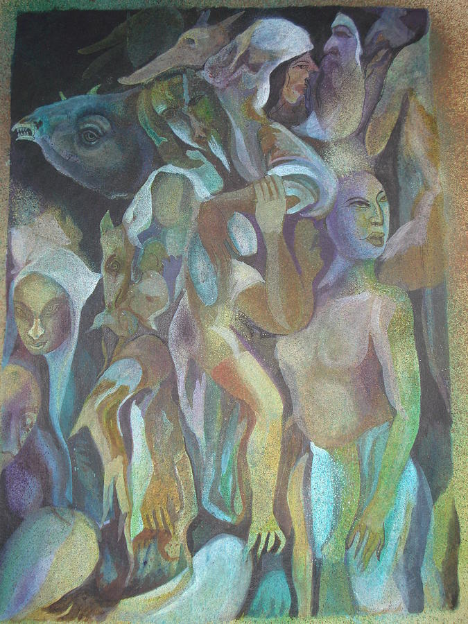 Incarnation Painting - Third World Incarnation by Prasenjit Dhar