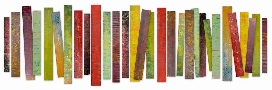Oil Paintings Painting - Thirty Stripes 2.0 by Michelle Calkins