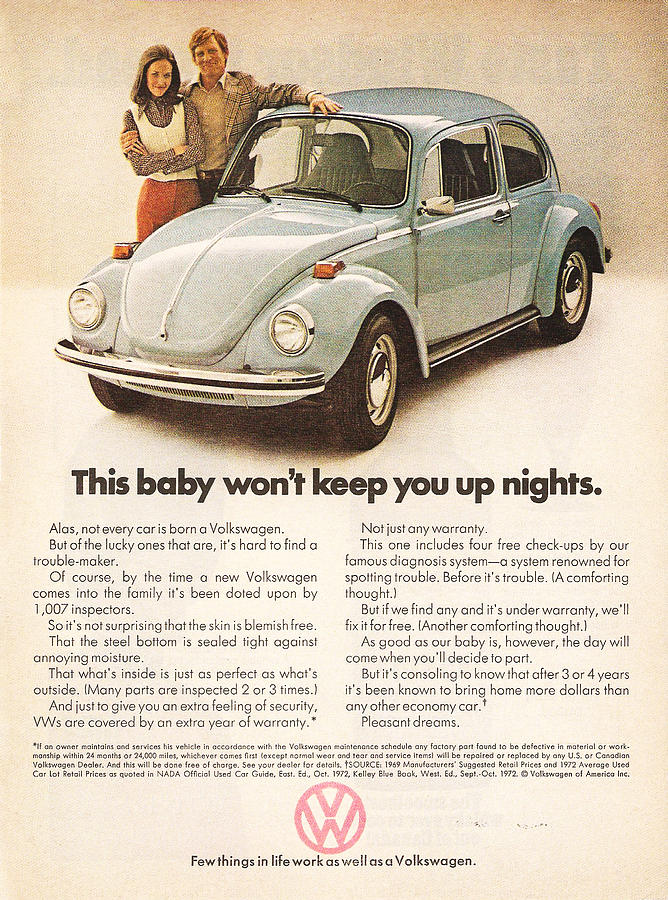 Vw Beetle Digital Art - This Baby Wont Keep You Up Nights by Nomad Art and Design