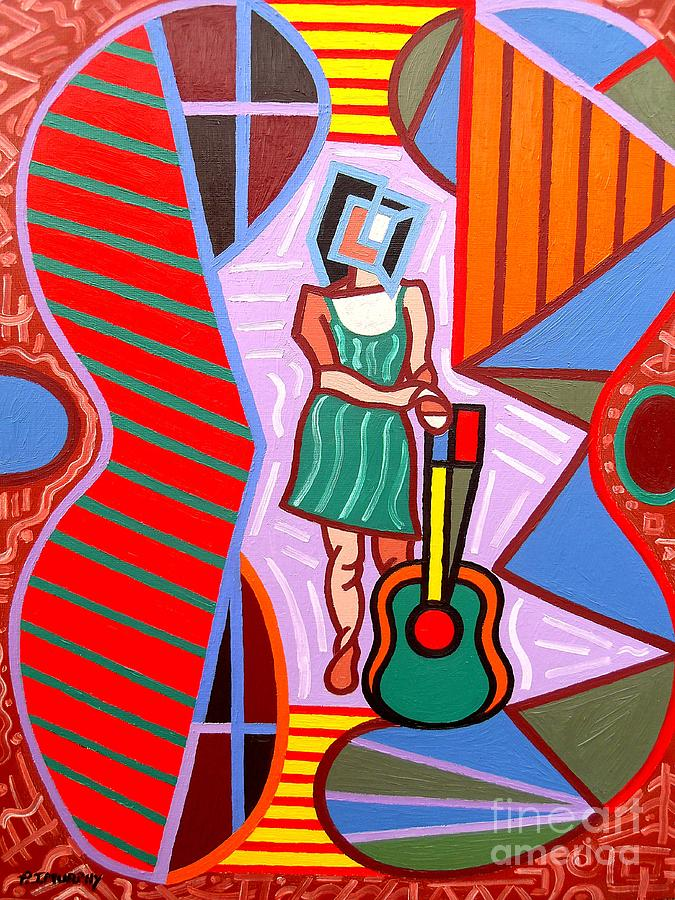 Music Painting - This Guitar Is More Than An Instrument by Patrick J Murphy