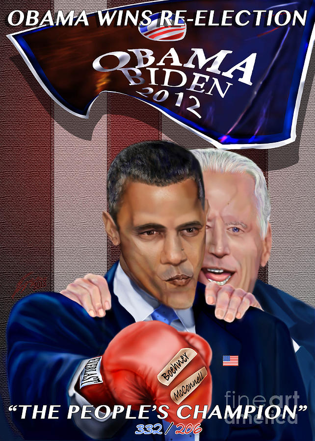 President Barack Obama Painting - This Is A Big ------- Deal by Reggie Duffie