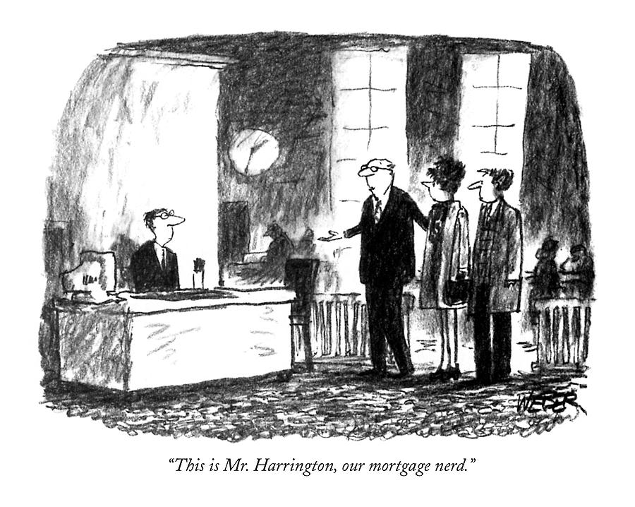 This Is Mr. Harrington Drawing by Robert Weber