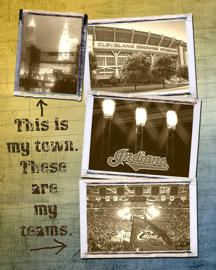 This Is My Town These Are My Teams Photograph