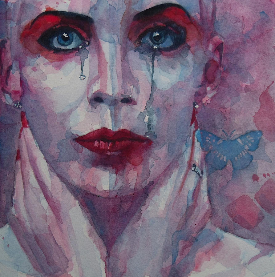 Annie Lennox Painting - This is the Fear This is the Dread  These are the contents of my Head by Paul Lovering
