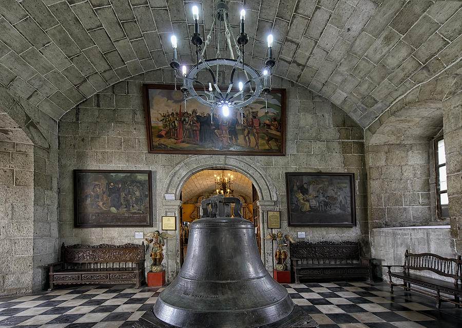 Cathedral Photograph - This Is The Philippines No.89 - San Agustin Church Bell by Paul W Sharpe Aka Wizard of Wonders