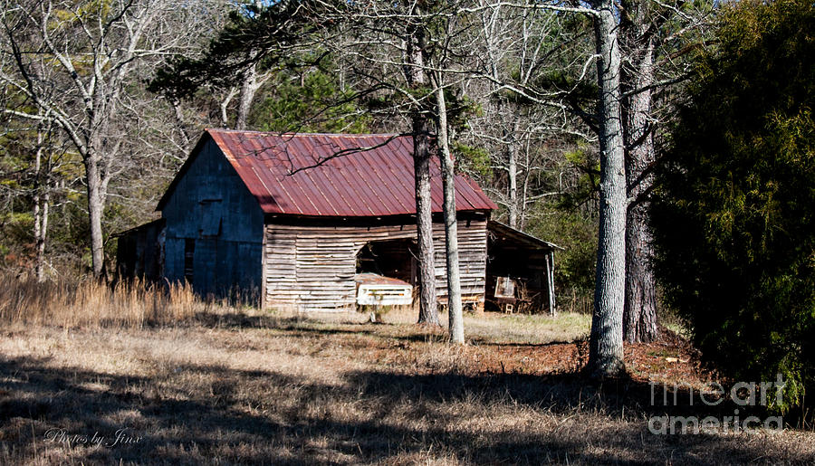 Monochrome Photograph Digital Art - This Old Barn by Jinx Farmer