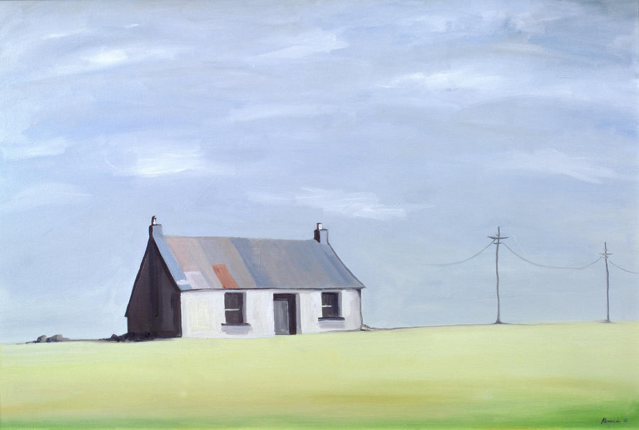 Rural Landscape Painting - This Old House by Ana Bianchi