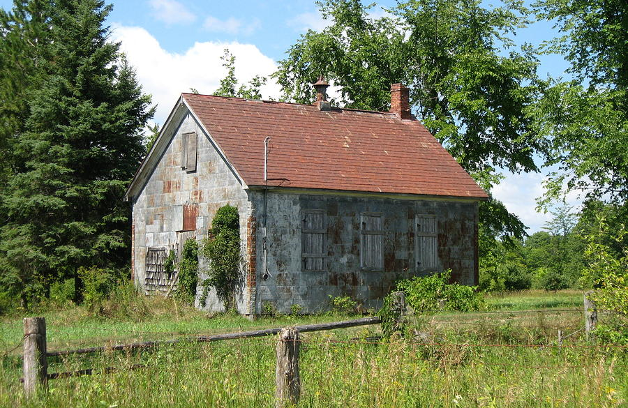 Abandoned Farmhouses Photograph - This Will Be Our Last Lesson Today by Richard Stanford