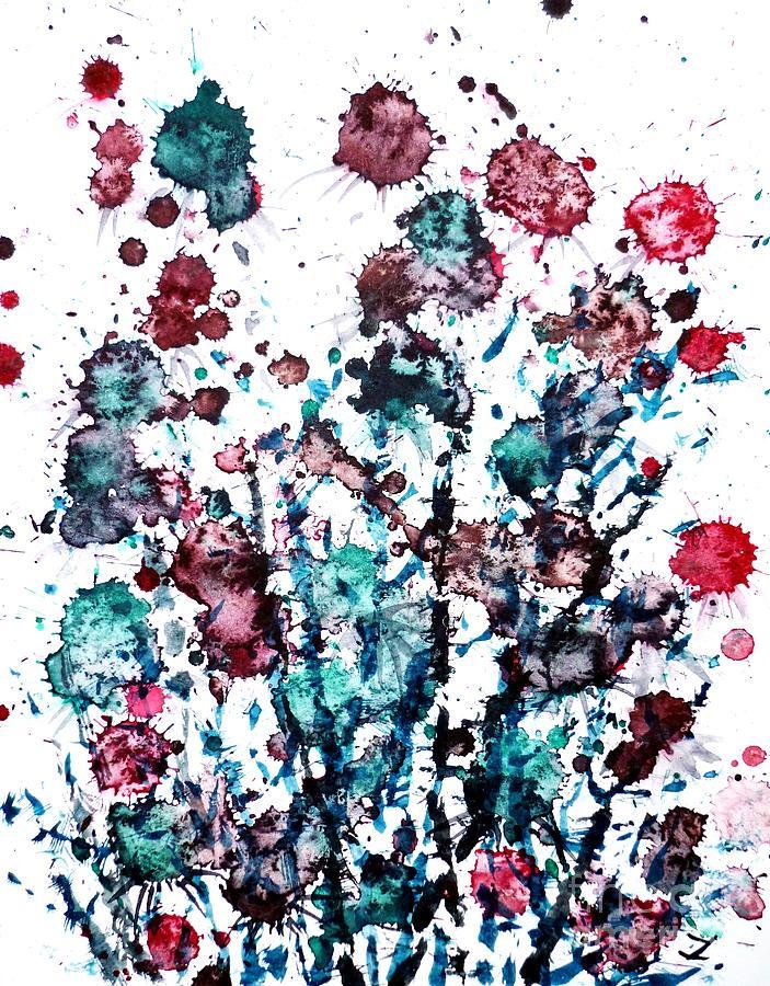 Thistle Painting - Thistle by Zaira Dzhaubaeva