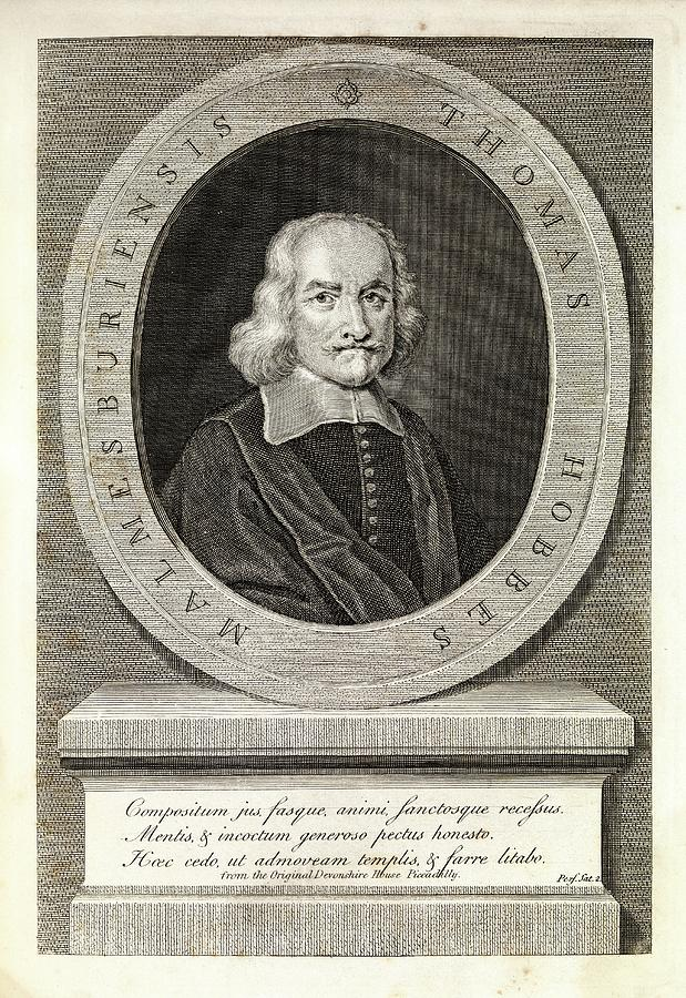 Thomas Hobbes Photograph - Thomas Hobbes by Middle Temple Library/science Photo Library