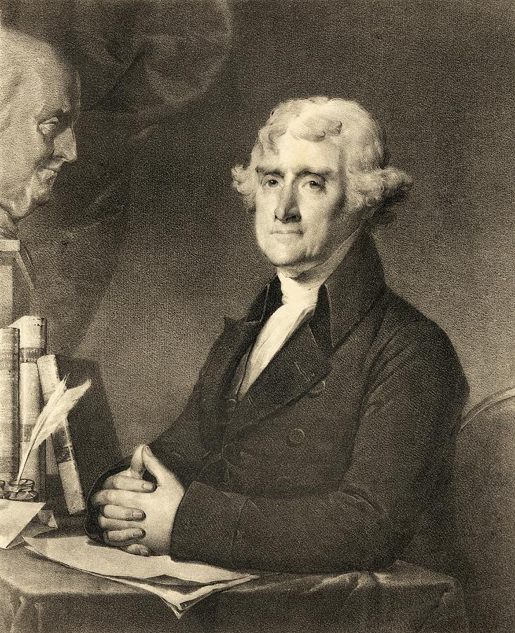Thomas Jefferson Drawing - Thomas Jefferson by American School