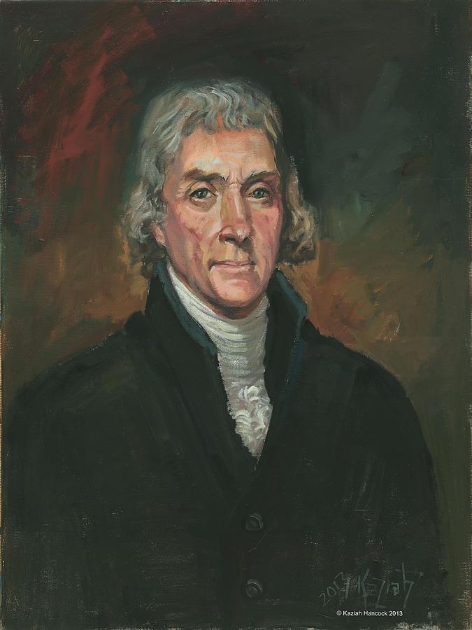 Thomas Jefferson Painting - Thomas Jefferson by Kaziah Hancock