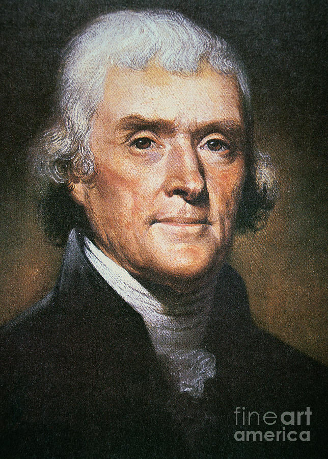 Philosopher Painting - Thomas Jefferson by Rembrandt Peale