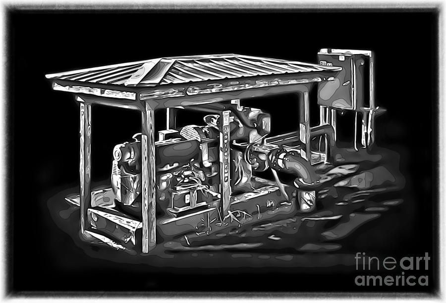 Machinery Photograph - Thompson Pump 2 by Walt Foegelle