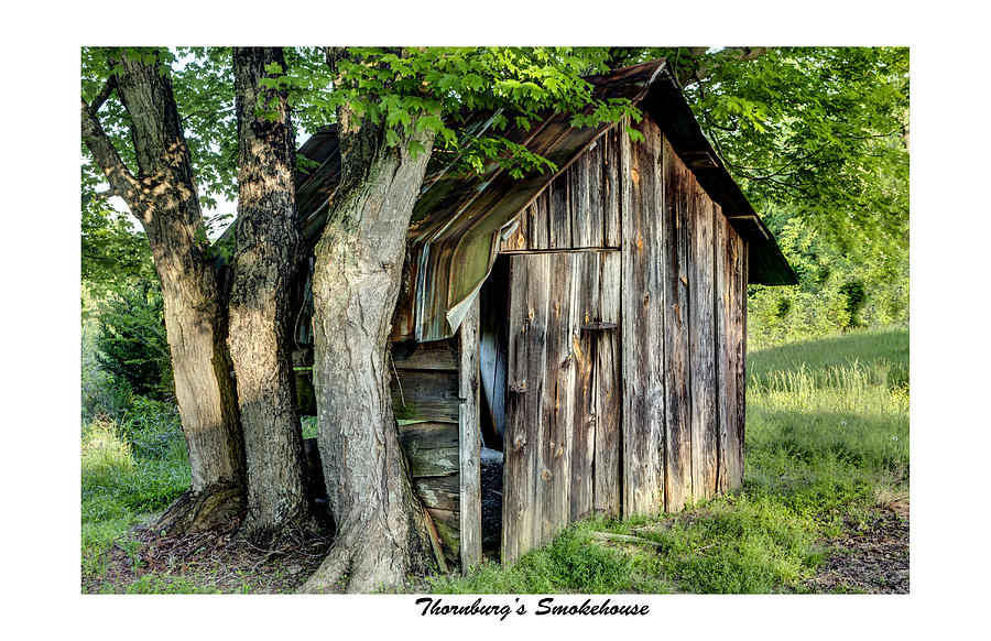 Historical Photograph - Thornburgs Smokehouse by Terry Spencer