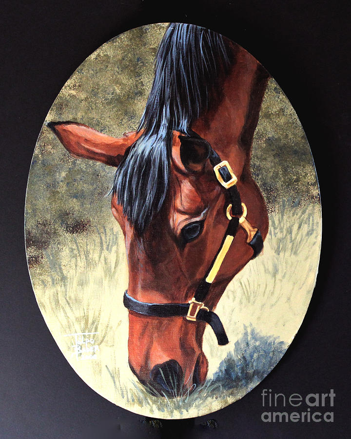 Thoroughbred Head by Art By - Ti   Tolpo Bader