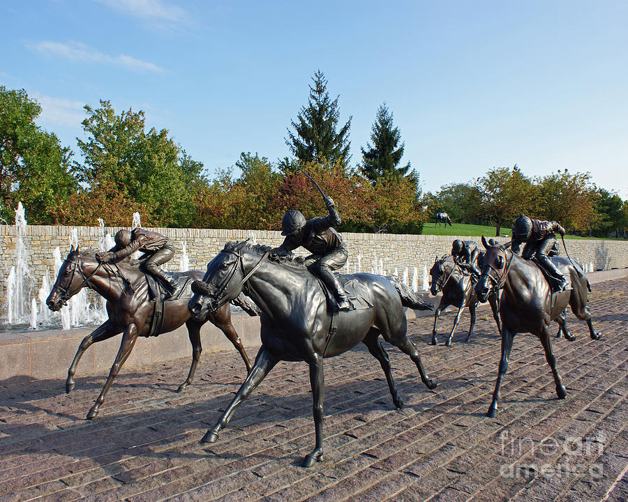 Kentucky Photograph - Thoroughbred Park by Roger Potts