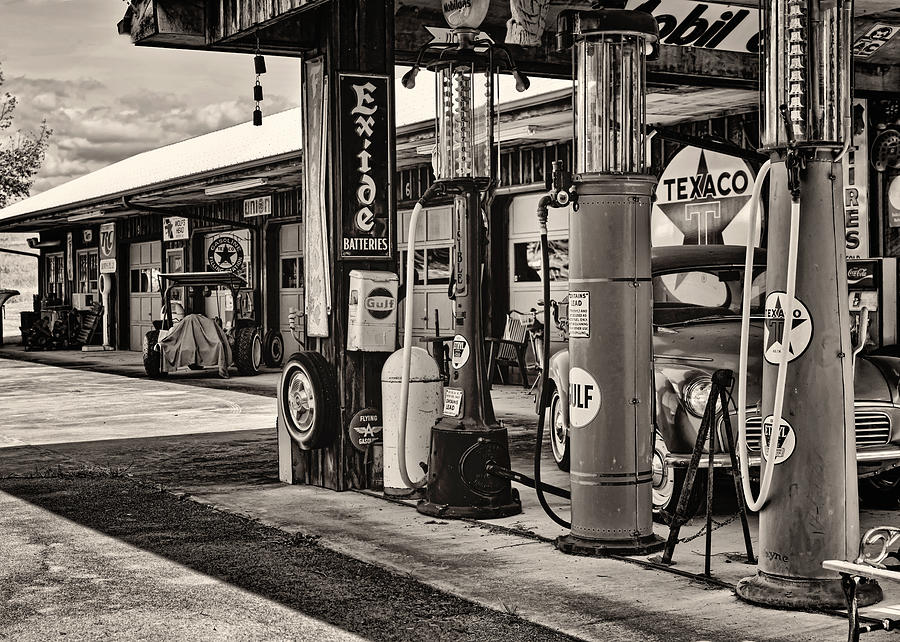 Garage Photograph - Those Were The Days by Heather Applegate