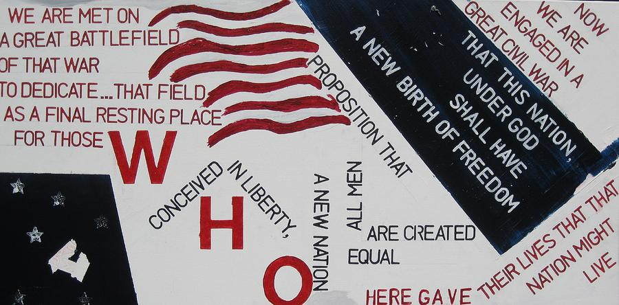 Flags Painting - Those Who Gave Their Lives by Lawrence  Dugan