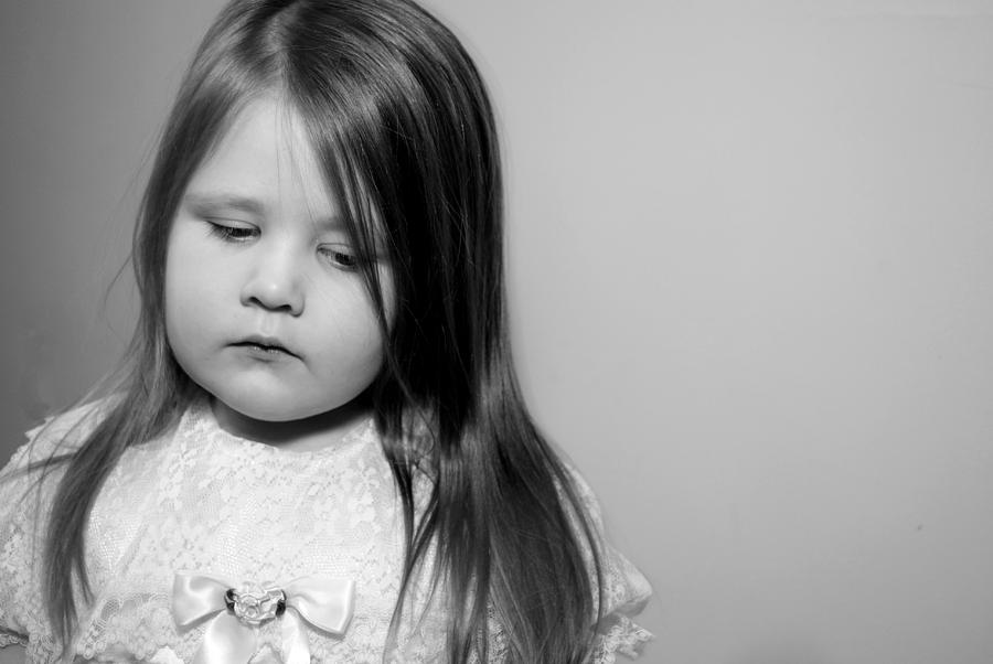 Girl Photograph - Thoughtful Little Girl by Stephanie Grooms