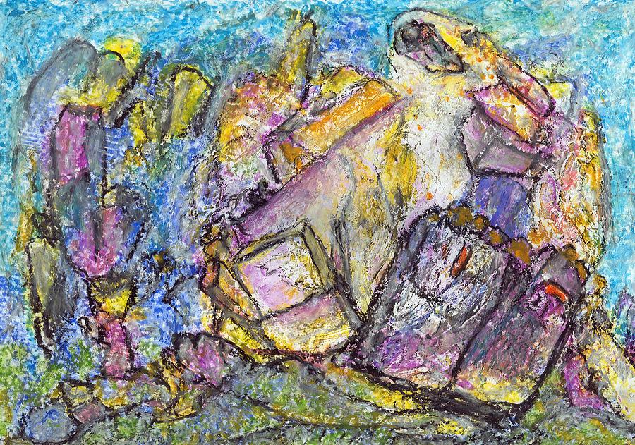 Abstract Pastel - Thoughts About Kandinsky by Yuri Lushnichenko