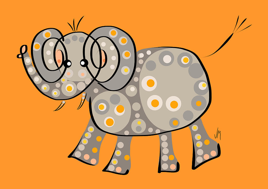Elephant Digital Art - Thoughts And Colors Series Elephant by Veronica Minozzi