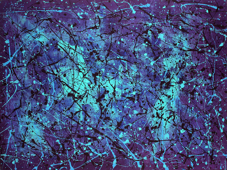 Blue Painting - Thoughts In Vitro 2012 by RalphGM