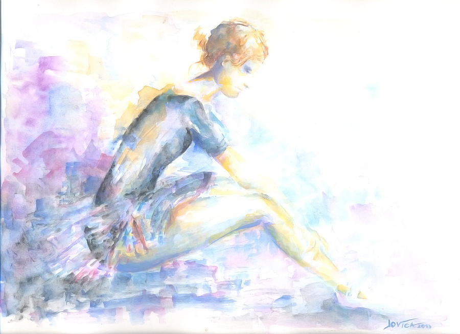 Ballerina Painting - Thoughts by Jovica Kostic
