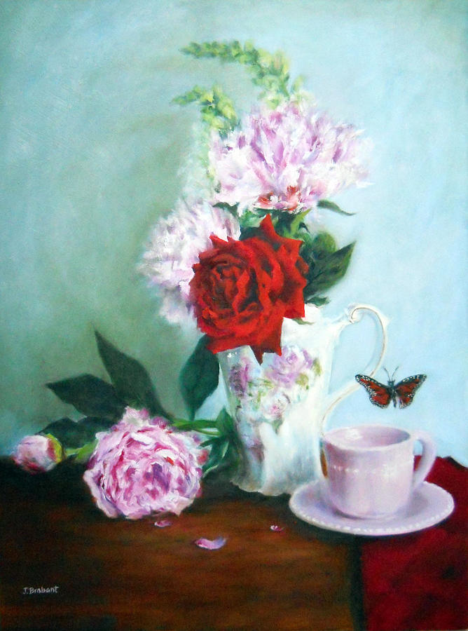 Pink Painting - Thoughts Of Anna by Jill Brabant