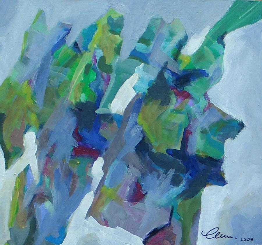 Abstract Painting - Thoughts On The Walk Of Santiago by Livio Lopedote