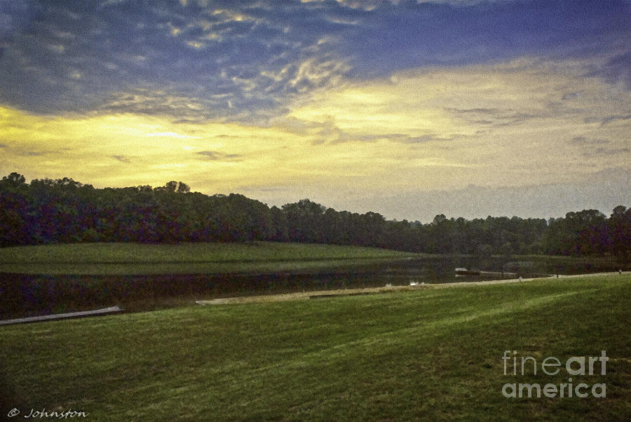 Thousand Trails Painting - Thousand Trails Lynchburg Virginia Painting by Bob and Nadine Johnston