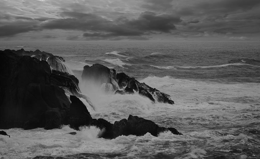 Landscape Photograph - Thrashing Waves by Zhijian Tao
