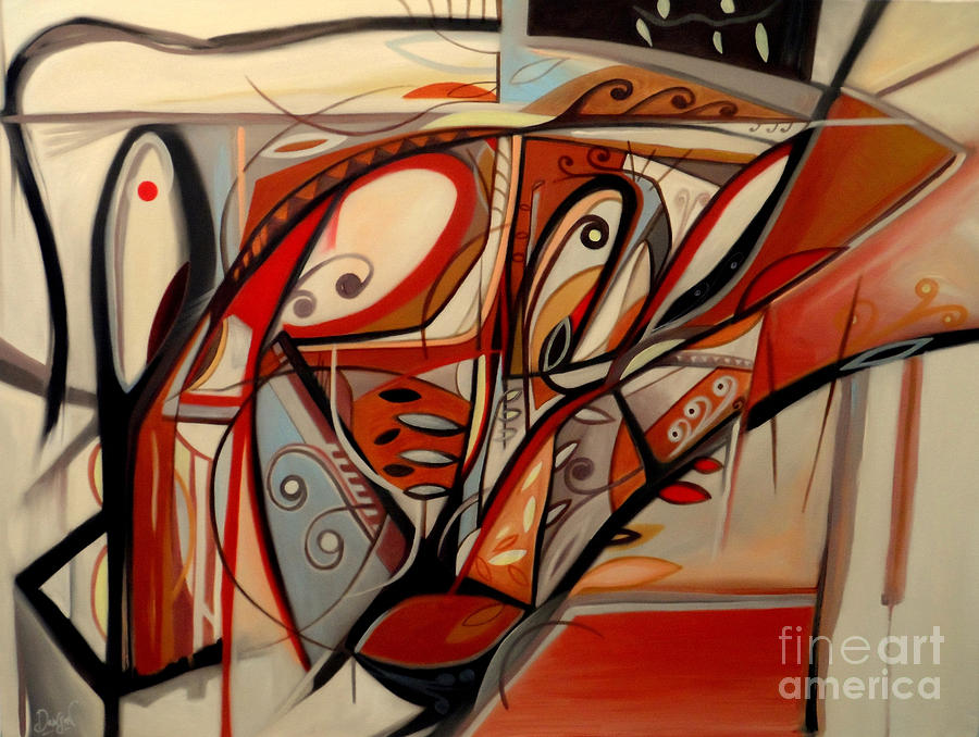 Modernist Painting - Threading The Needle by Dawson Taylor