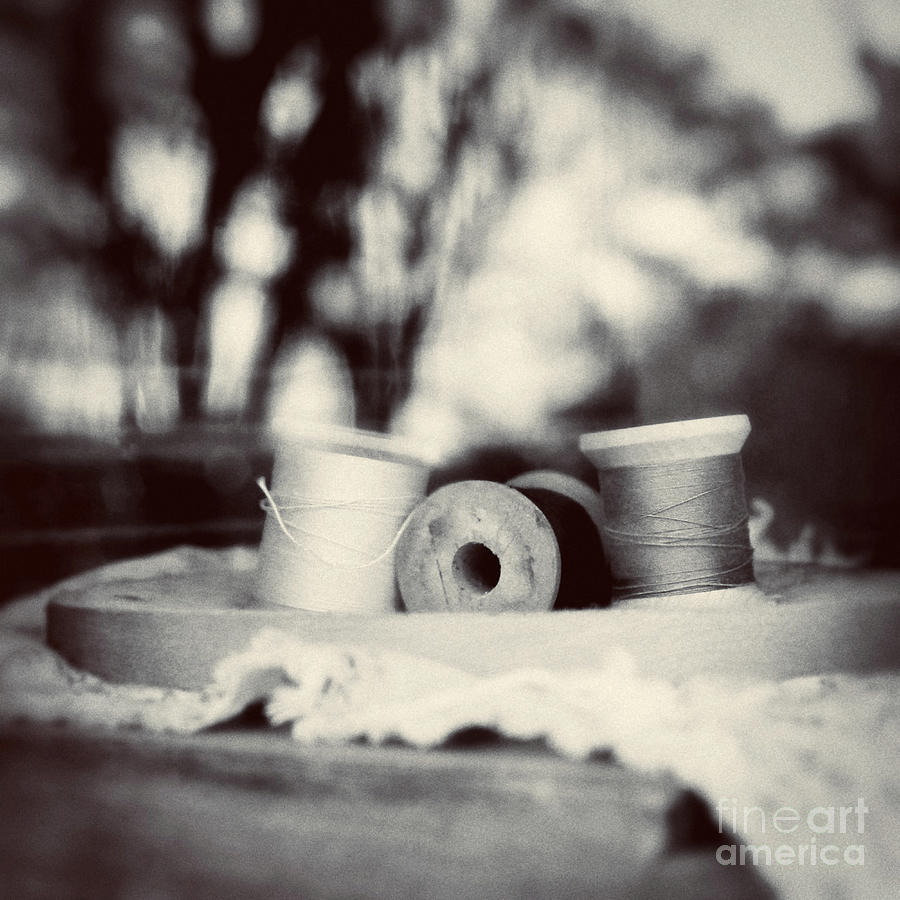 Sewing Photograph - Threads Of Life  by Trish Mistric