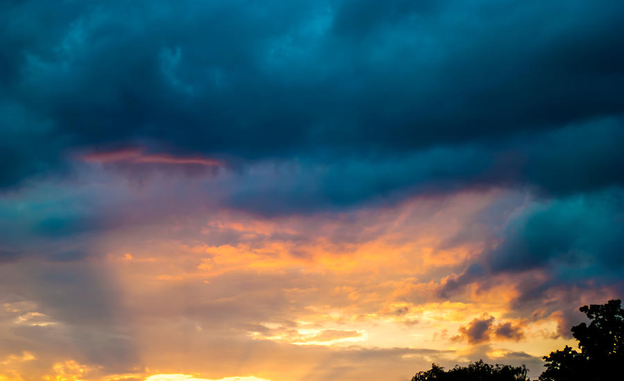 Storm Photograph - Threatening Skies At Sunset by Optical Playground By MP Ray