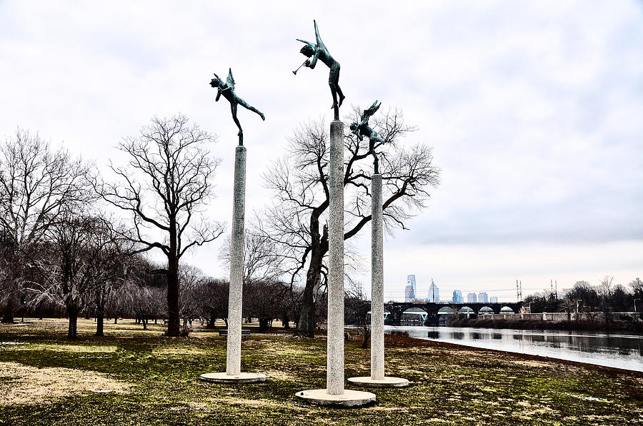 Three Angels Photograph - Three Angels In Winter by Bill Cannon