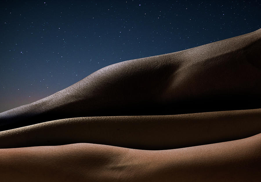 Three Arms Against Starry Night, Close Photograph by Jonathan Knowles